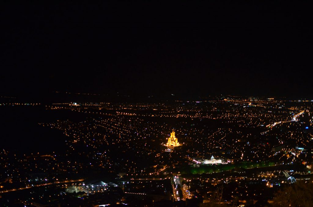 Вид на Тбилиси с Мтацминды.