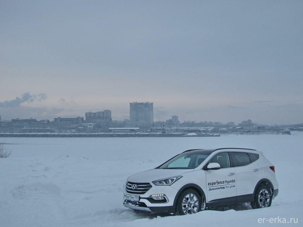 Santa Fe в снегу