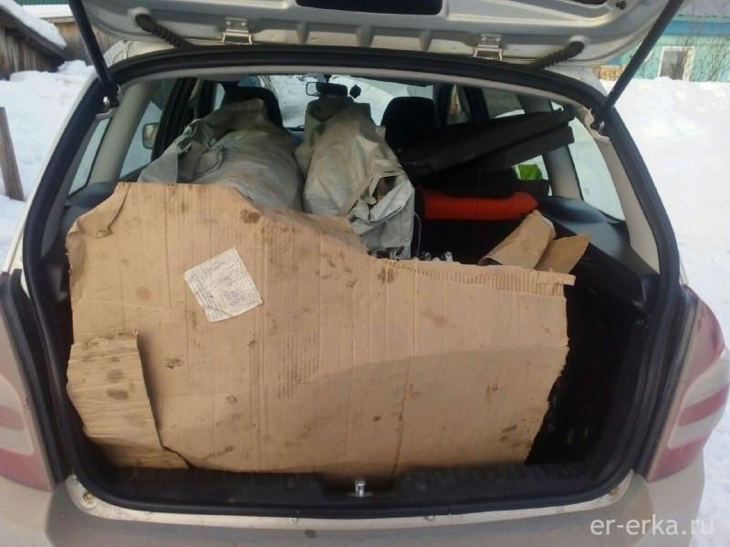 Вместимость багажника Калина Универсал