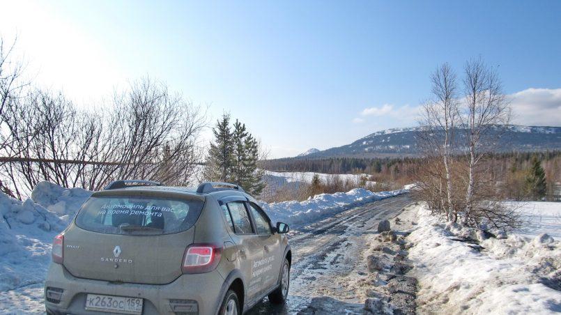 Renault Sandero Stepway по плохой дороге