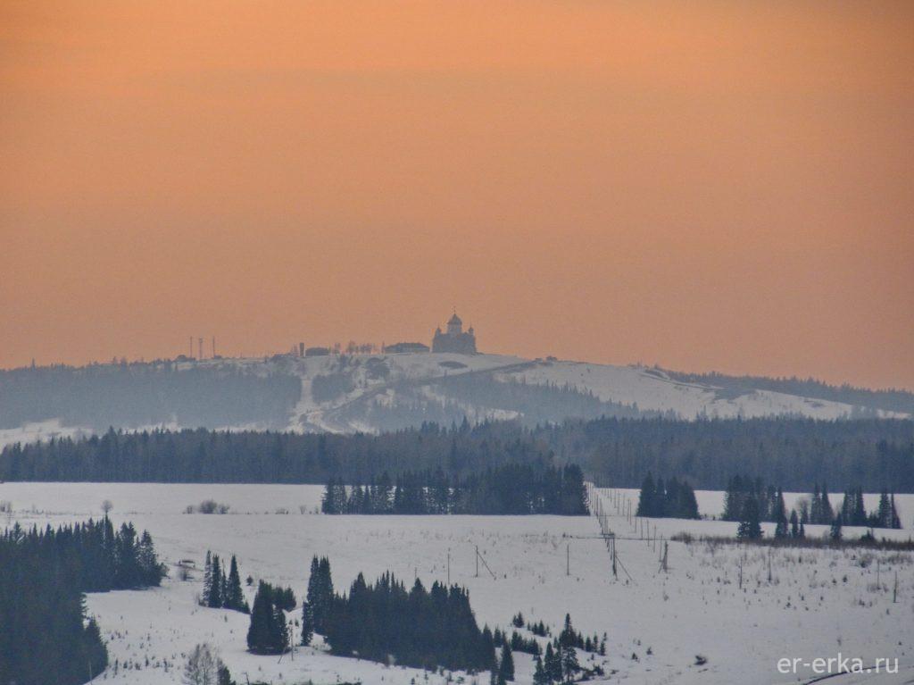 Белогорский монастырь вид из Калинино