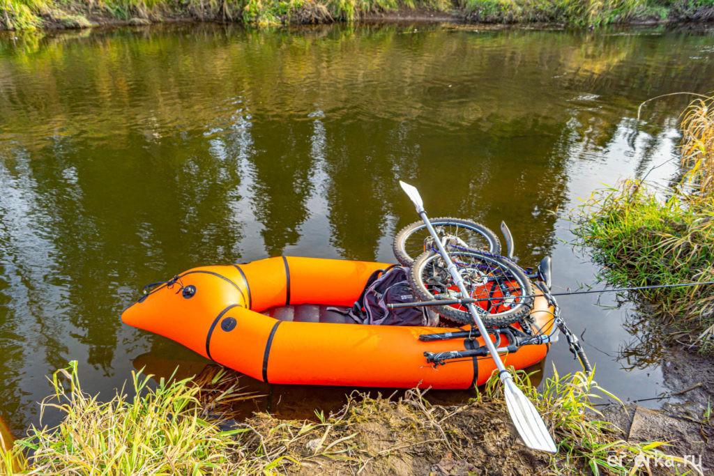 пакрафт с велосипедом